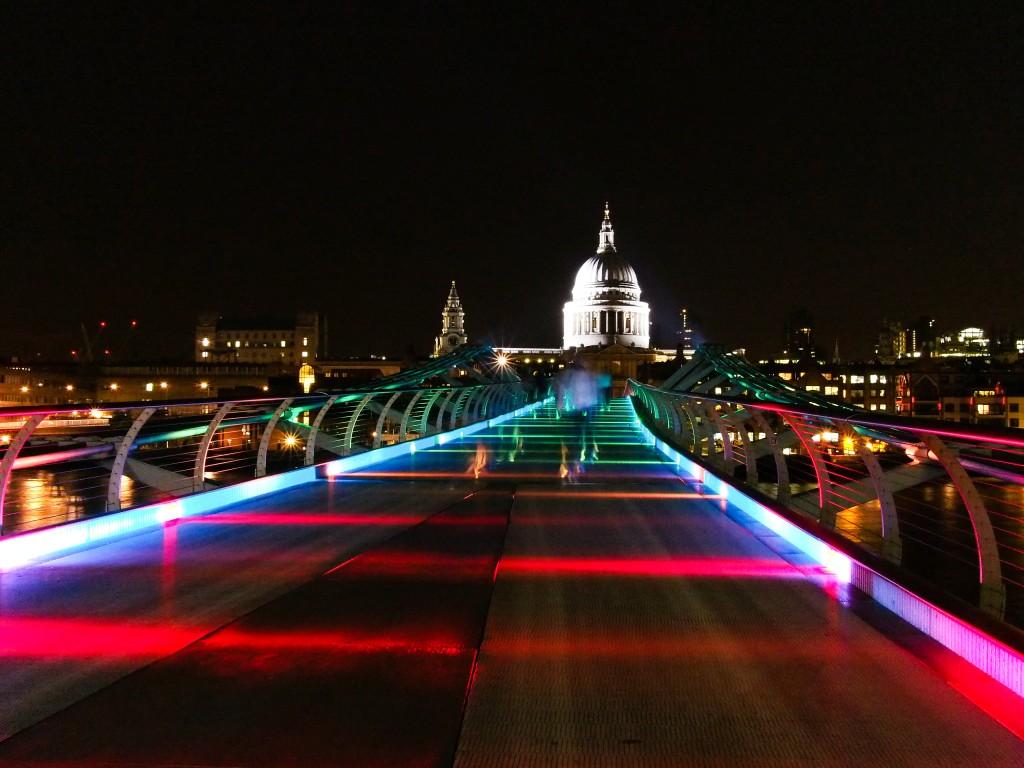 Millennium Bridge during the Olympics