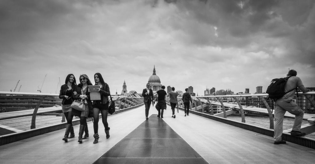Millennium Bridge walkers