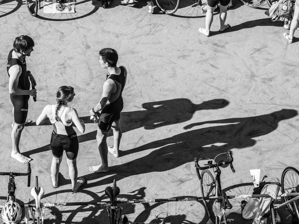 Triathletes at Crystal Palace