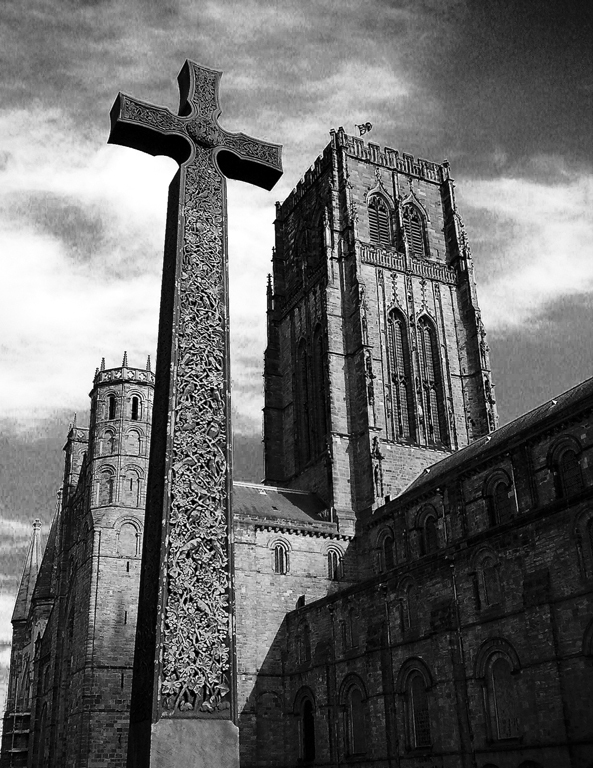 Durham Cathedral and cross
