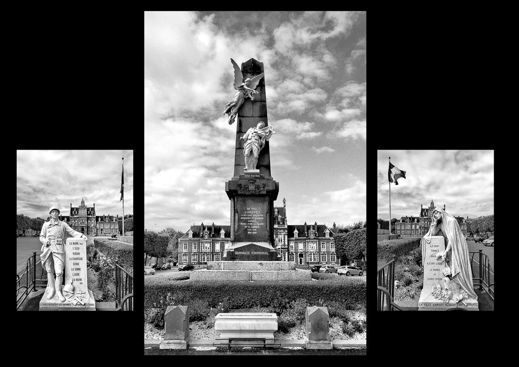 La ville d'Arques Homage Communal - triptych 4